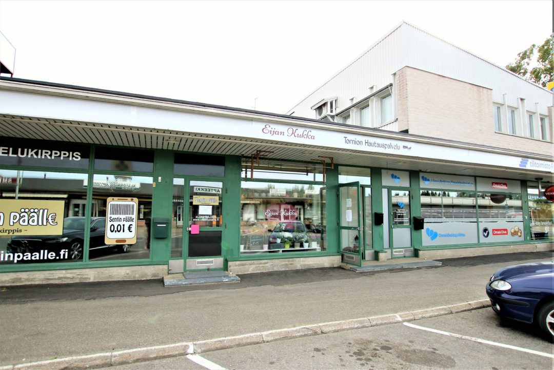 Liiketila, 58,5 m² myymälä+sos.tila+wc, Kemintie 11, Tornio